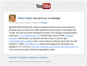Mario Hytten YouTube Message